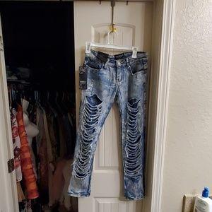 Sexy distressed mummy jeans